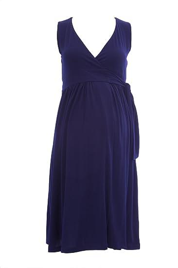 caaaa645631b3 Olian Maternity Women's Sleeveless Wrap Dress at Amazon Women's Clothing  store: