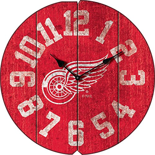 Imperial Wings - Imperial Officially Licensed NHL Merchandise: Vintage Round Clock, Detroit Red Wings