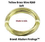14 Ga Brass Round Wire 1/2 Lb. - 40 Ft. Coil