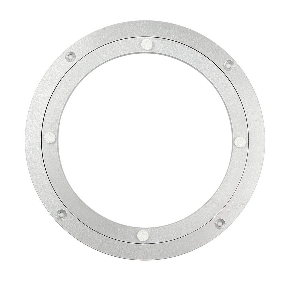 HomDSim Aluminum Metal Lazy Susan Hardware 360°Rotating Turntable Bearings Swivel Plate Turntable on Dining-table Furniture hardware glass turntable (16 inch, Ordinary)
