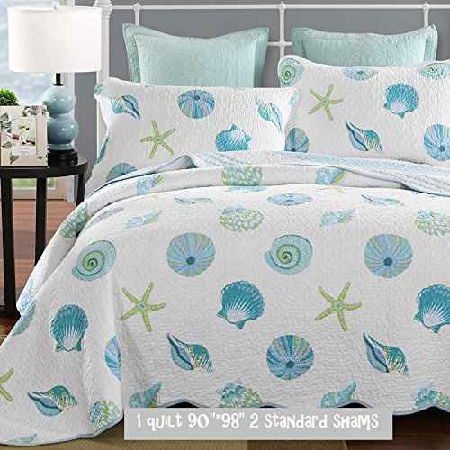 Brandream Blue Ocean Bedding Set Queen Size Bed Quilt Set