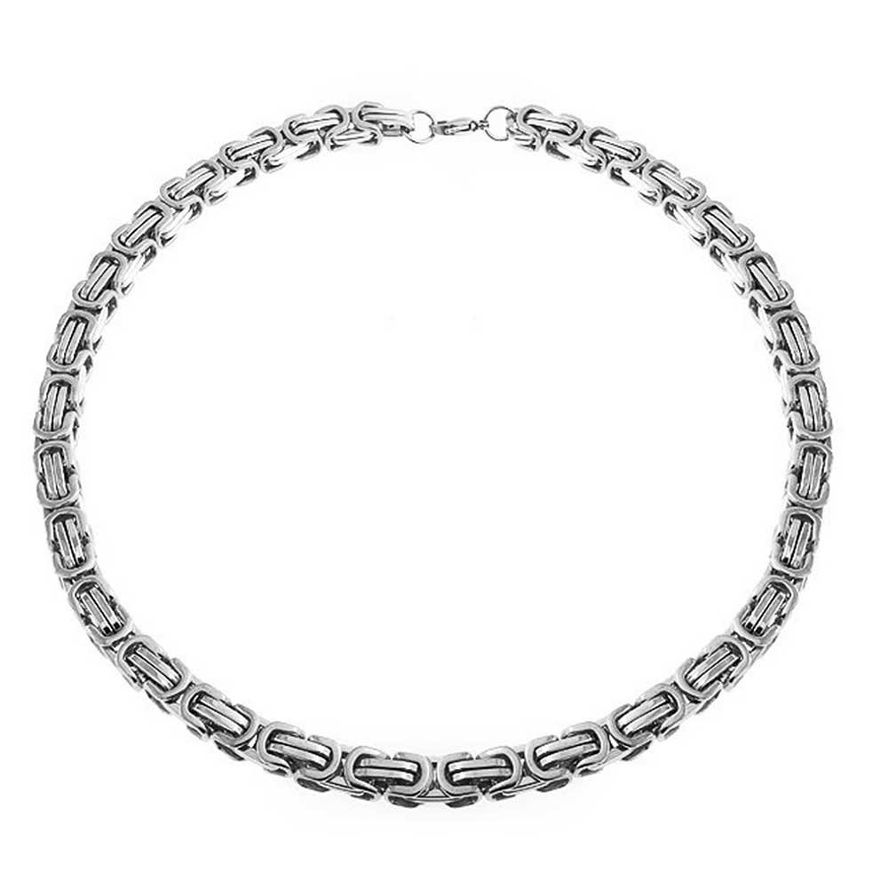 2778b3cc496 Bling Jewelry Mechanic Byzantine Biker Urban Heavy Chain Necklace For Men  Necklace Silver Tone Stainless Steel 20 Inch