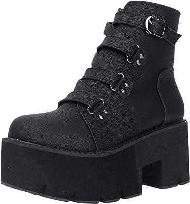 : SONIGER Spring Autumn Ankle Boots Women Platform