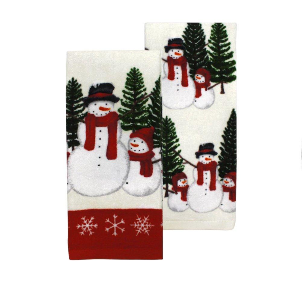 St. Nicholas Square Scenic Snowman Kitchen Towel 2-pk