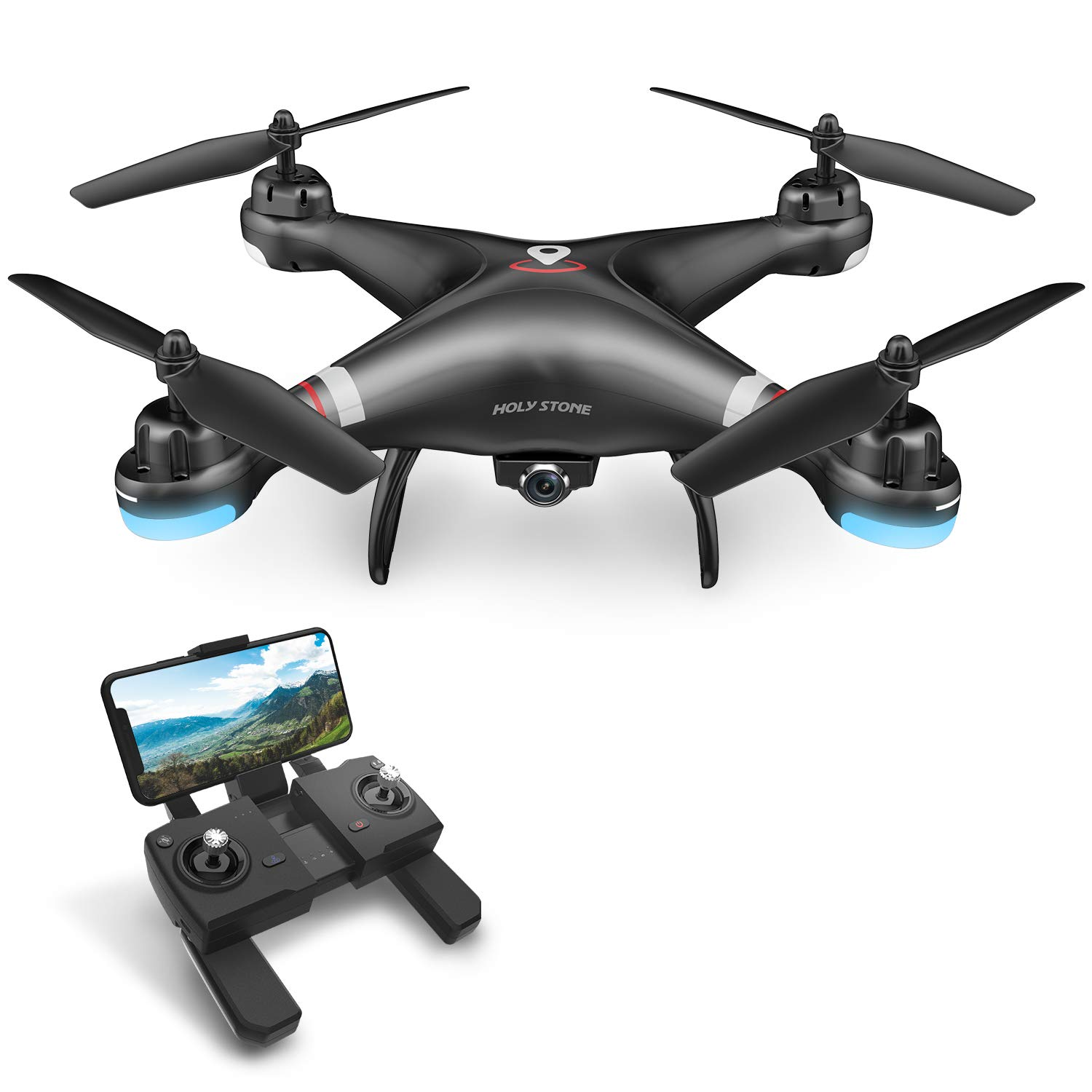 Holy Stone HS110G GPS FPV Drone with 1080P HD Live Video Camera for Adults and Kids, RC Quadcopter with GPS Auto Return Home, Auto Hover and Follow Me Mode, Long Flight Time, Easy to Fly for Beginners by Holy Stone
