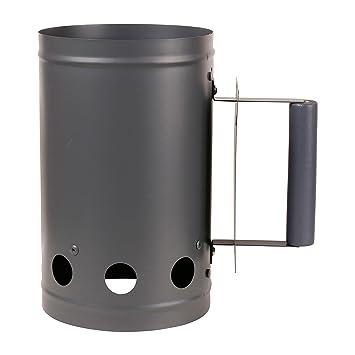 RUECAB 2598 - Chimenea de encendido para barbacoa de carbón de madera, 27 x 17