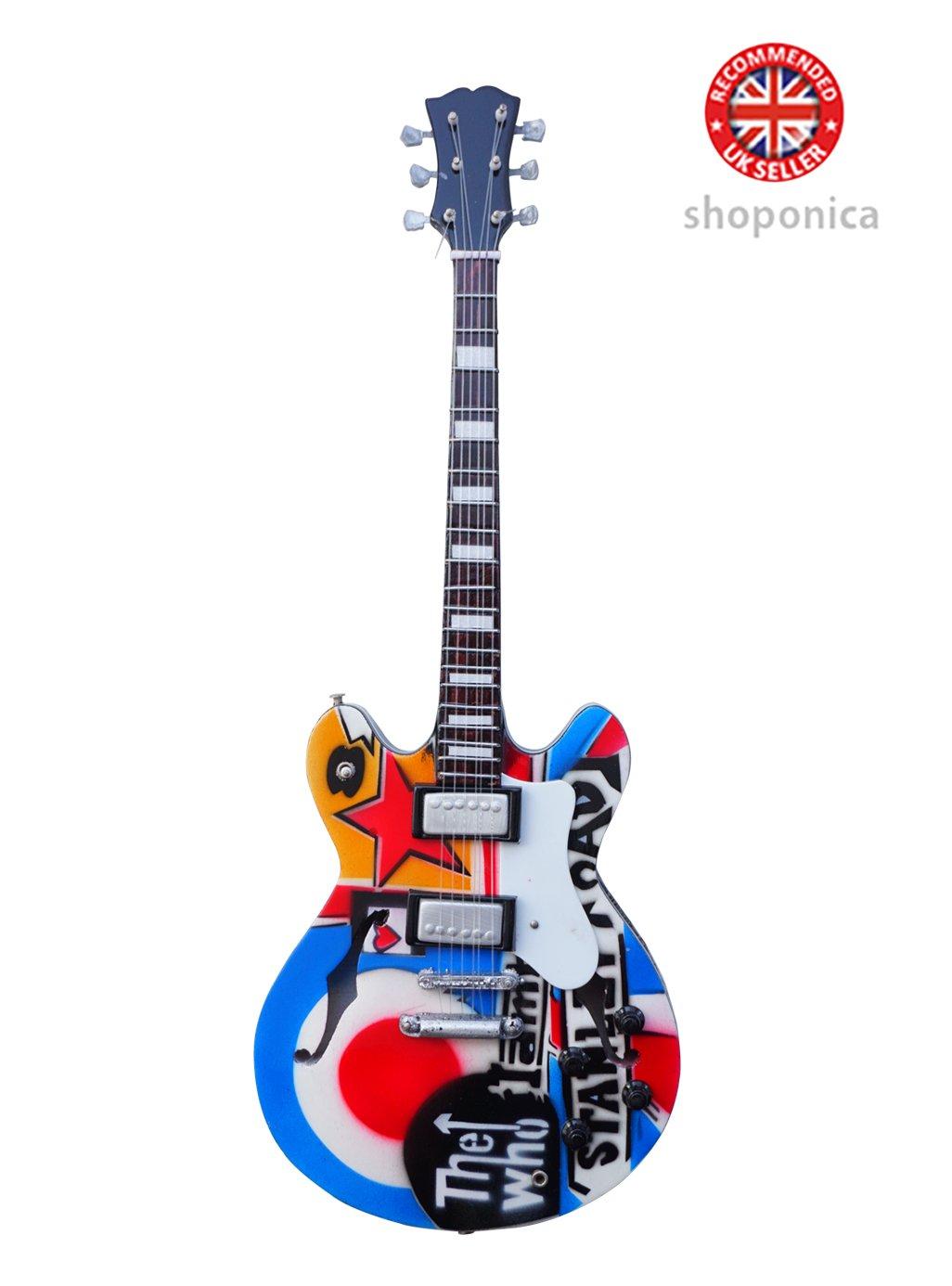 The Who–Tribute Holz Miniatur-Gitarre Nachbildung (shoponica) ML
