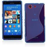 【ノーブランド品】ドコモ Xperia Z3 Compact TPU グリップカバーケース  docomo SO-02G 対応 Xperia Z3 Compact, Design S Blue (青)
