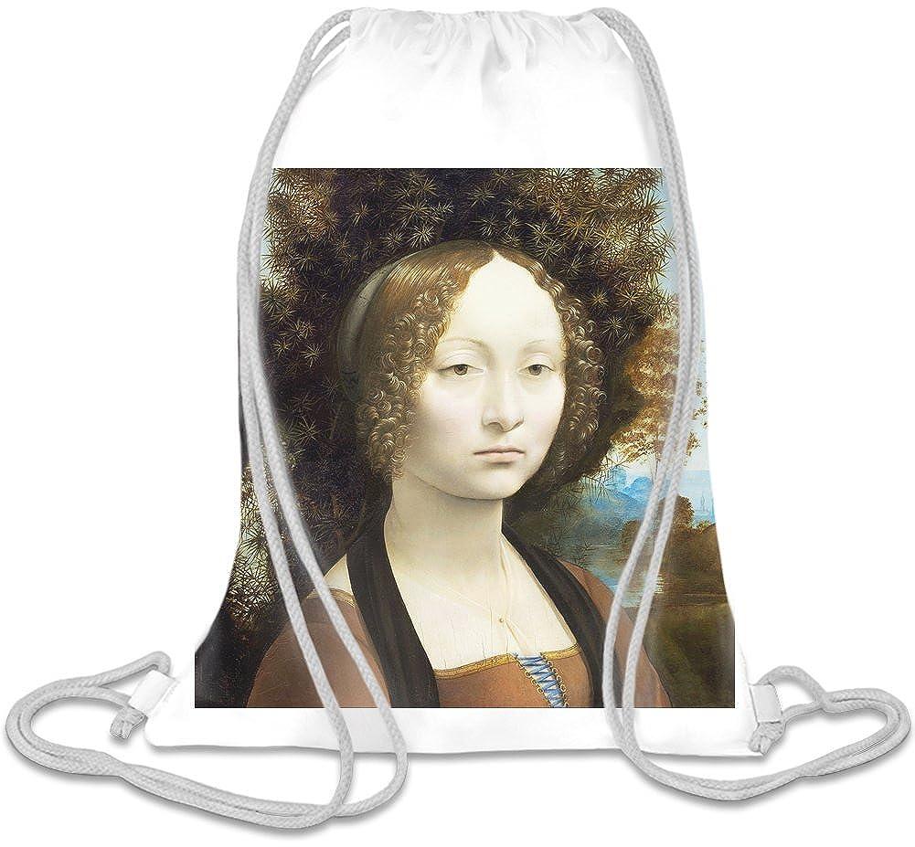 Ginvera de Benci Leonardo da Vinci Painting Bolso con cordones ...