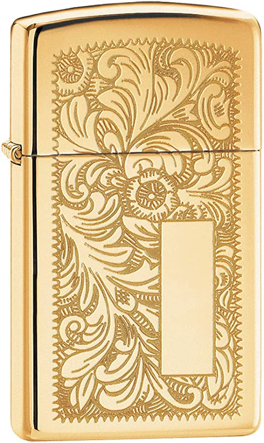 Zippo Venetian Slim Mechero, Metal, High Polish Brass, 3.5x1x5.5 cm: Amazon.es: Hogar