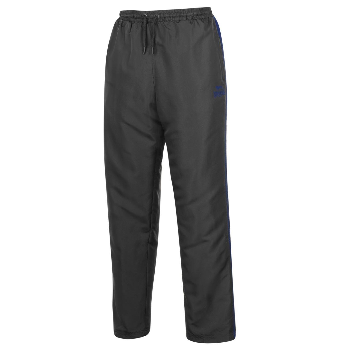 Lonsdale Uomo 2 Pantaloni Della Banda Aprire Hem Tessute
