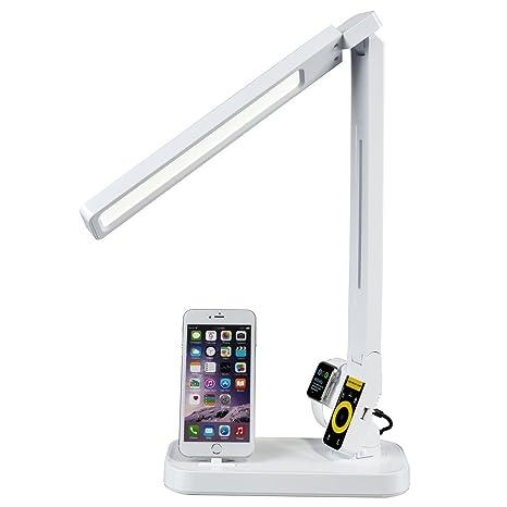 Signstek - Lámpara de mesa LED Con Cargador De iPhone y de ...