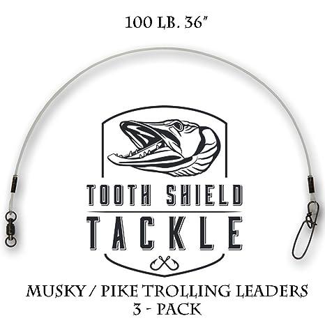 58.9kg 1 Leaders 130lb Berkley Musky//Pike Leaders 130lb 36in 36in 58.9kg