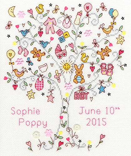 - Bothy Threads Love Baby Girl Cross Stitch Kit
