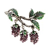 CINDY XIANG Luxury Rhinestone Grapes Brooches for