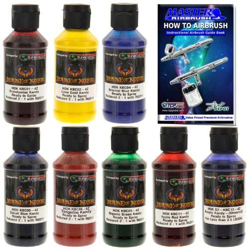 - House of Kolor 4oz 8 COLOR KIT SHIMRIN KANDY Ready-to-Spray Basecoat