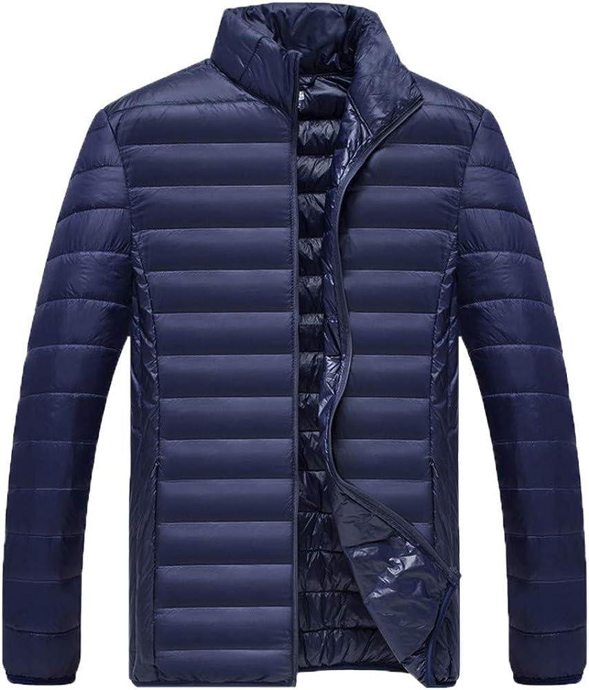 Coat Men Jackets,Dartphew Mens Winter Foldable Stand Collor Pure Color