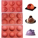BAKER DEPOT Dome Silicone Mold for Cake Decorating Jelly Pudding Candy Chocolate Semicircle Silicone Mousse Mold(3 pcs…