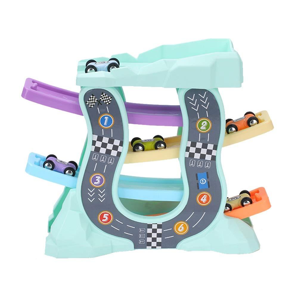 Juguetes Xiaomei 2 y 1 barandilla de vagones para niños educativos para niños educación temprana Planeador Divertido (Color : B)