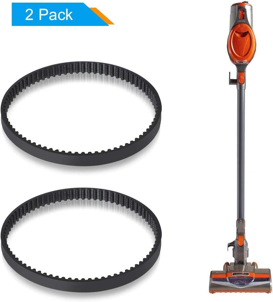 LANMU Replacement Belts Compatible with Shark Rocket Ultra-Lightweight Upright Vacuum Models HV301, HV302, HV305, HV308 (Pack of 2)