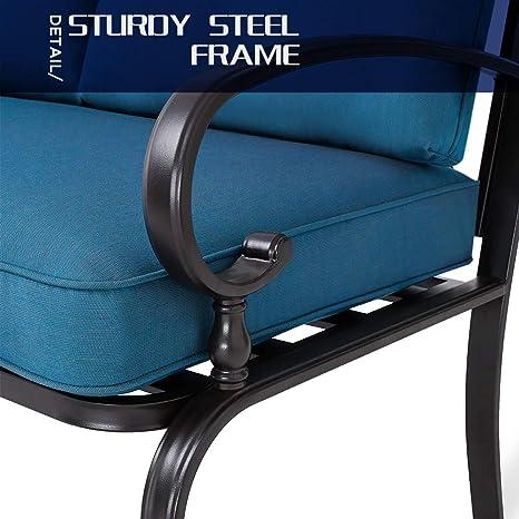 Amazon.com: Incbruce - Juego de sillas de patio con cojín ...