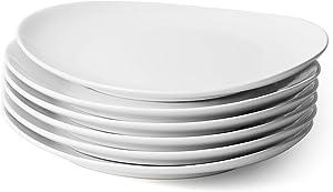Sweese 150.001 Porcelain Dinner Plates - 11 Inch - Set of 6, White