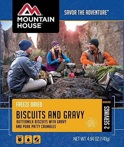 Biscuit Gravy (Mountain House Breakfast Bundle Assortment - 6 meals plus Coghlan's Duracon Cutlery Set)