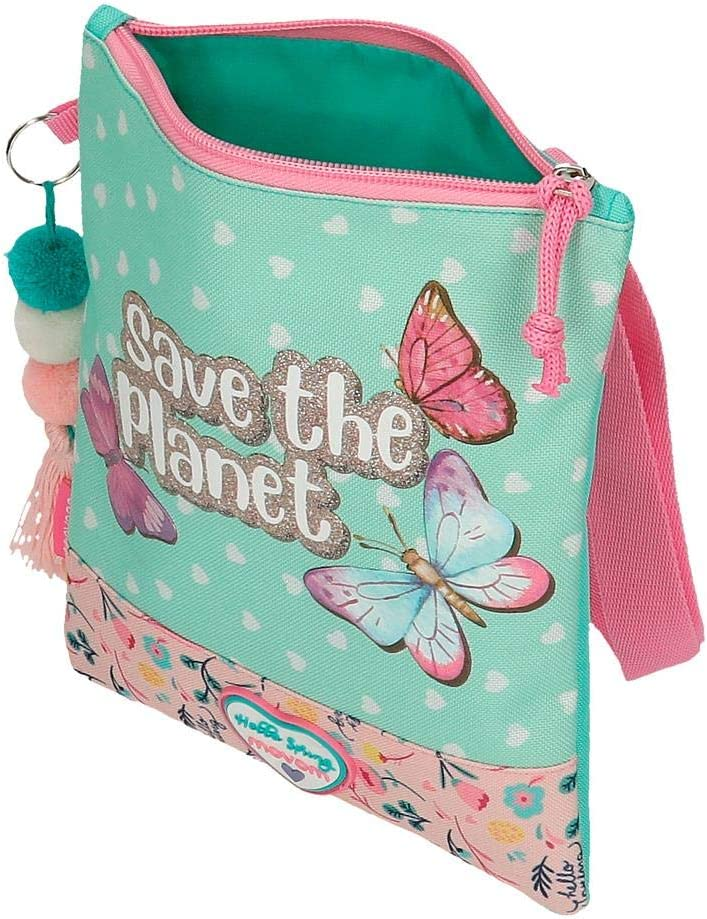Movom Save The Planet Bandolera Plana Multicolor 20x24 cms Poli/éster Reciclado