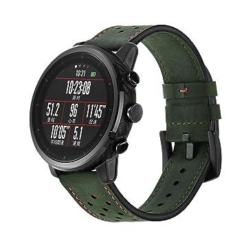 Correa de nailon ligera Diadia para reloj inteligente Amazfit Stratos 2/2S, Army Green, Band width: 22mm: Amazon.es: Deportes y aire libre