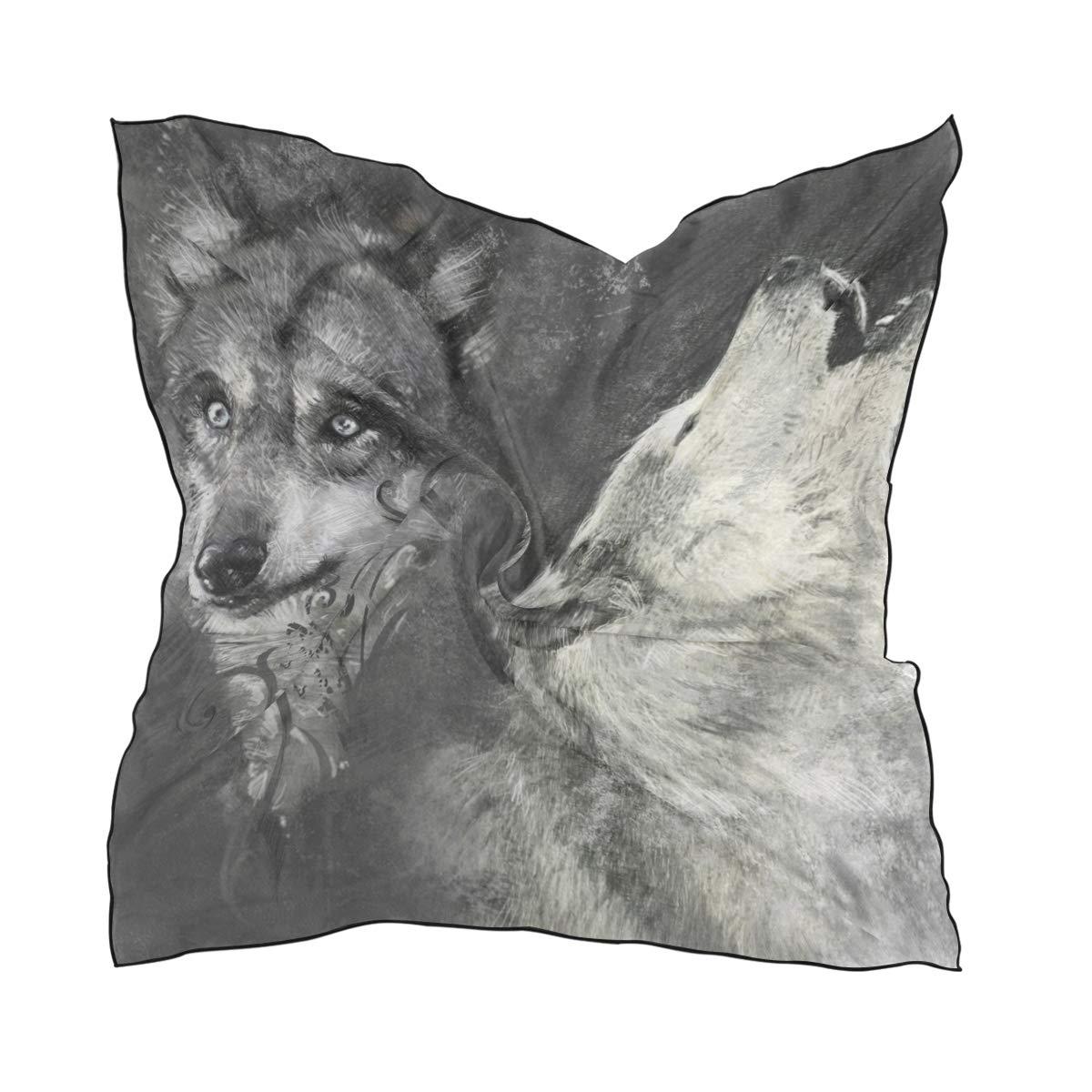 Amazon.com: LORVIES - Pañuelo de seda para mujer, diseño de ...