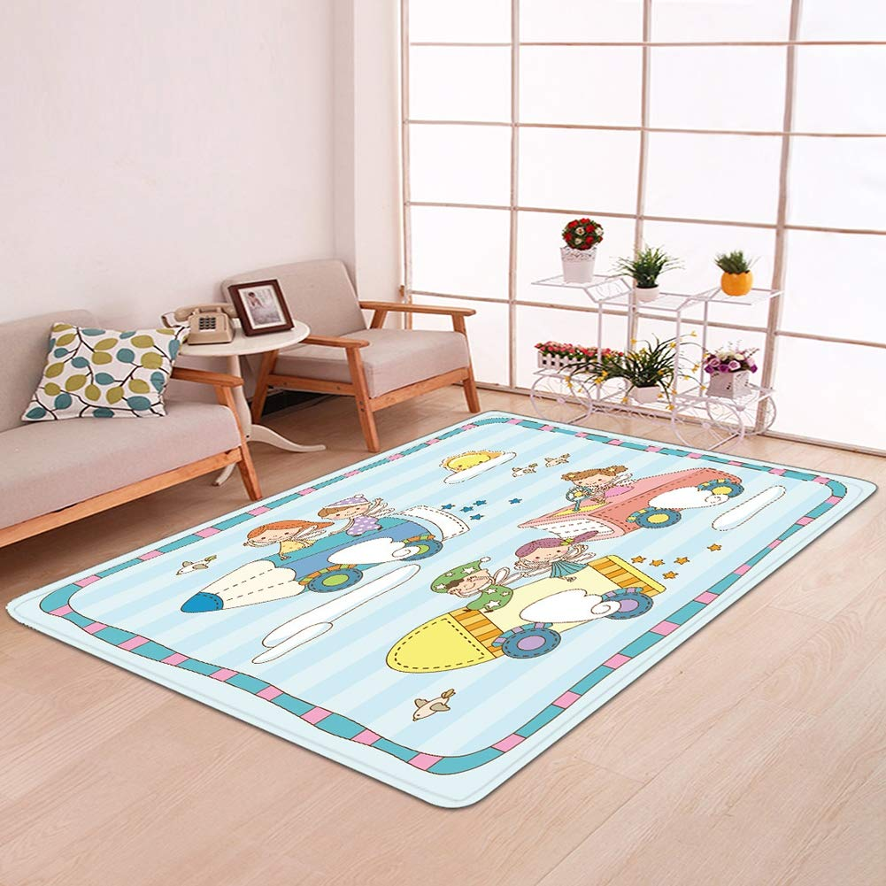 Amazon.com: Modern Non-Slip Area Rugs Colourful Kids ...