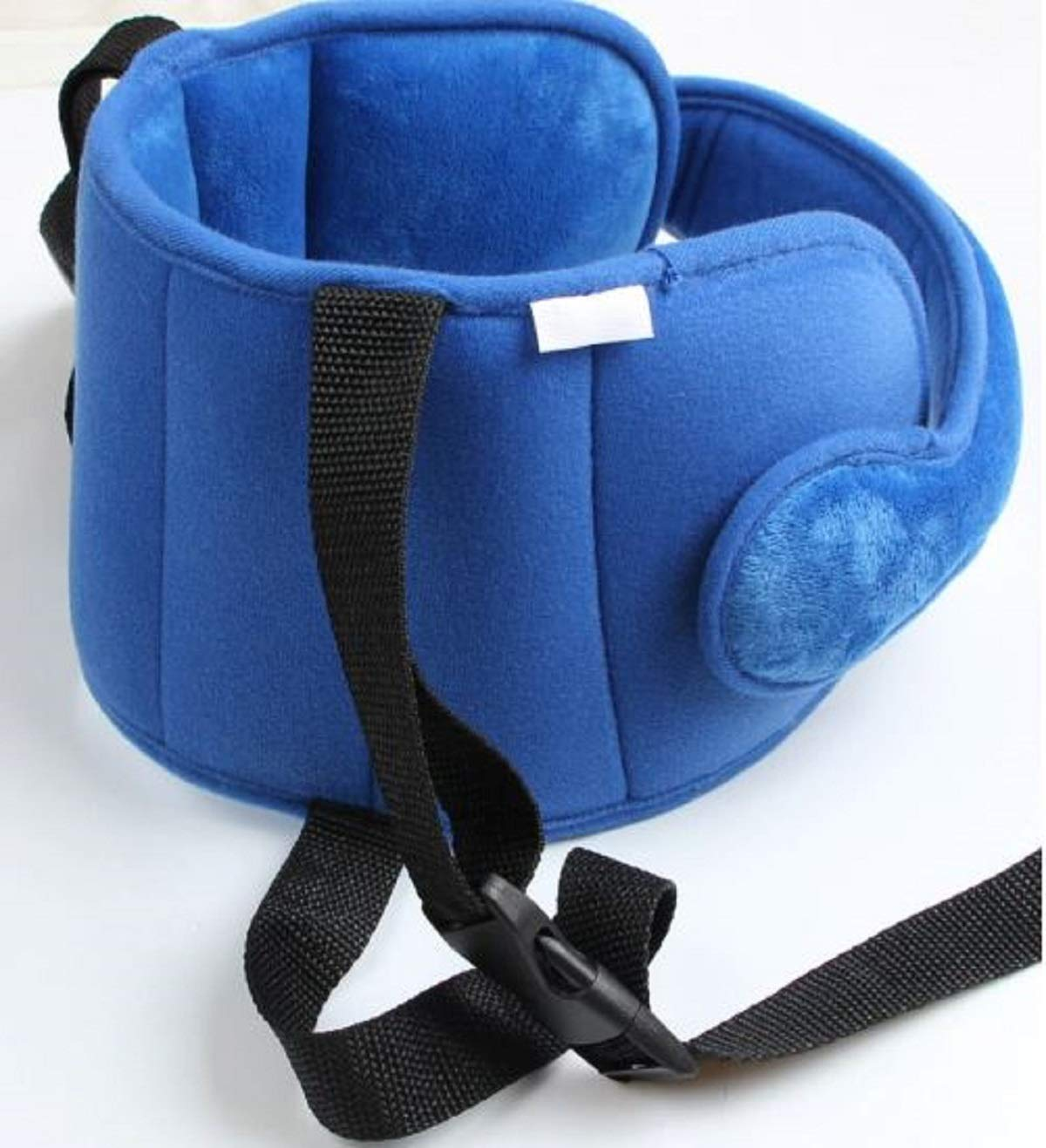 vocheer Child Car Seat Head Support Blue Adjustable Car Seat Head Strap for Kids Baby Comfortable Neck Relief Head Protector Strap
