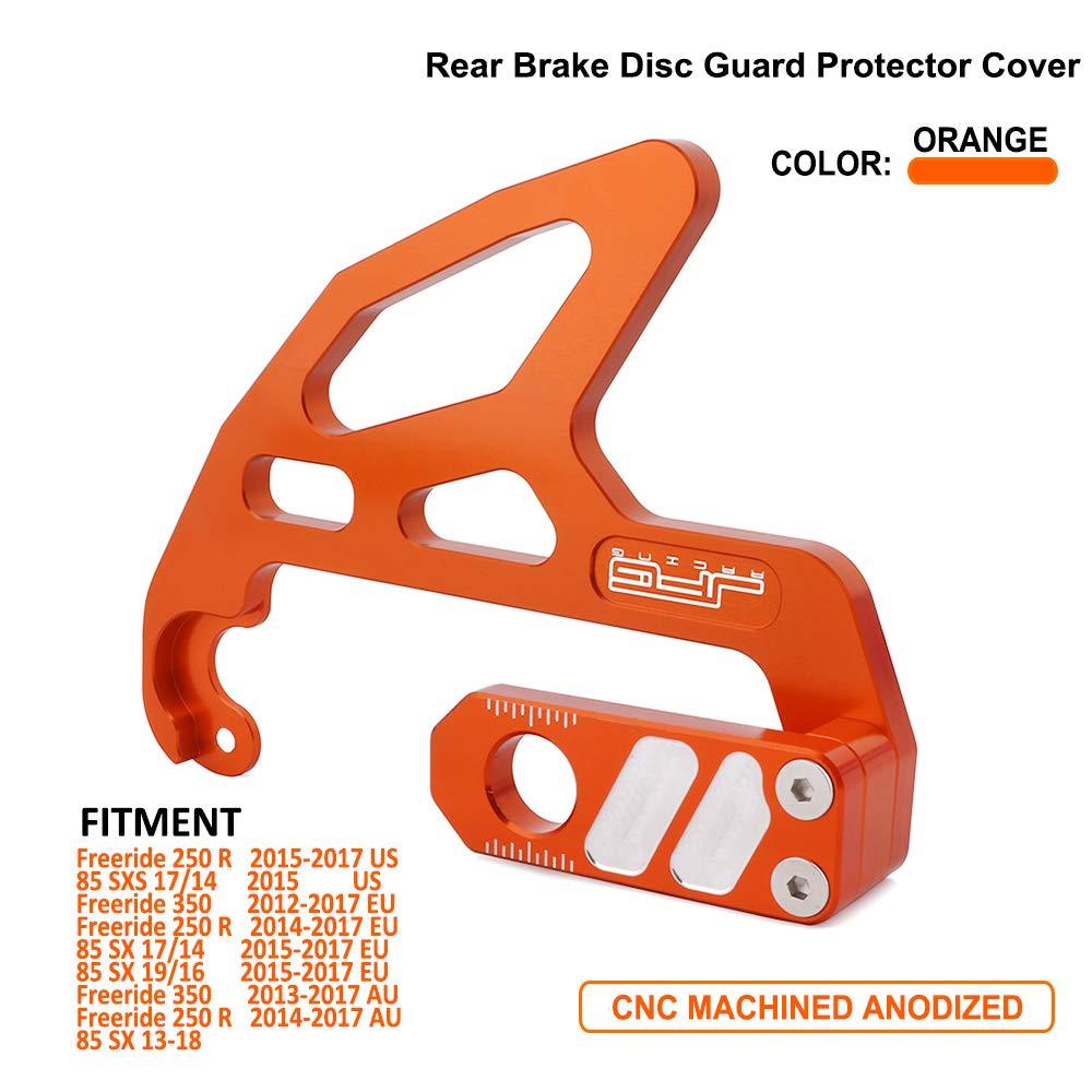 JFG RACING CNC Rear Disc Brake Guard For KTM Freeride 250 R 2015-2017 US, 85 SXS 17/14 2015 US, Freeride 350 2012-2017 EU, Freeride 250 R 2014-2017 EU, 85 SX 17/14 2015-2017 EU, 85 SX 19/16 - Orange