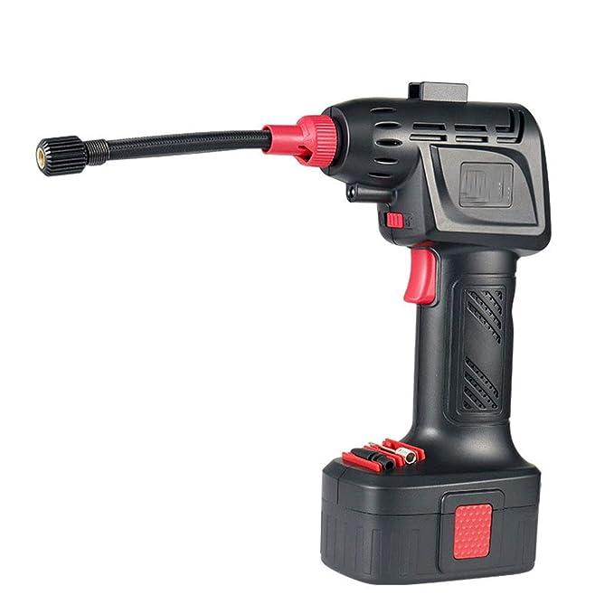Ruitx Inflador De Neumático Manual, Compresor De Aire Sin Cuerda Automático, 12V 130PSI para El Neumático, Bola, Amortiguador De Aire: Amazon.es: Hogar