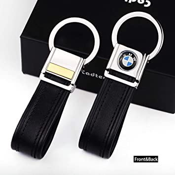 Metal Leather Strap Keychain Keyring Key Chain Ring W// Tool Accessories For BMW