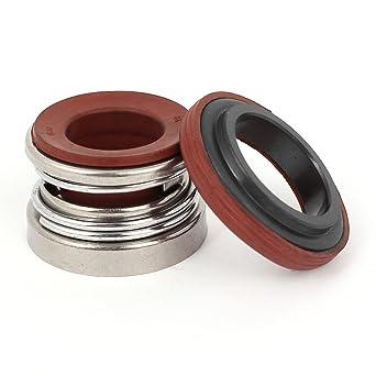 De cer/ámica de color negro anillo giratorio bomba de fuelle de goma cierre mec/ánico 22 mm