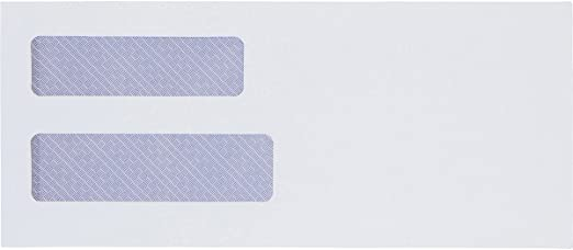 and Legal Documents SELF Seal QuickBooks Invoices Designed for Business Statements Security Envelopes Peel /& Seal 4 1//8 x 9 1//2-24 LB #10 Double Window Envelopes 550 Per Box