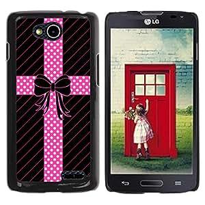 For LG OPTIMUS L90 / D415 Case , Dot Bow Tie Pattern Lines Gift - Diseño Patrón Teléfono Caso Cubierta Case Bumper Duro Protección Case Cover Funda