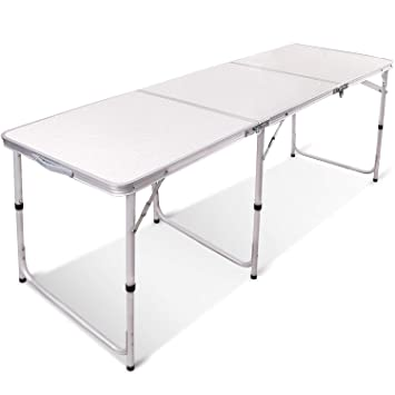 Amazon.com: Mesa plegable de aluminio REDCAMP 2/3/4/6 ...