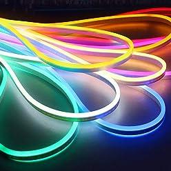 Multi Farbe W/ählen Sie f/ür Heim DIY Urlaub Festival Dekoration 5M LED flexibler Streifen Licht AC 220V SMD 2835 LED Neon Flex Tube 120led IP65 Wasserdichte Seil String Lampe Plug 16.4ft // 5m