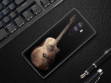 ZYQ Guitar Elegant Style Funda Caso Teléfono TPU Silicona ...