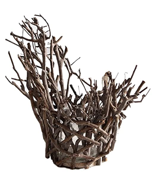 Beachy Natural Tree Branch Tealight Candle Holder