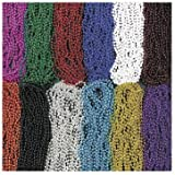 Fun Express Mardi Gras Bead Necklaces (144 Piece), Assorted Colors