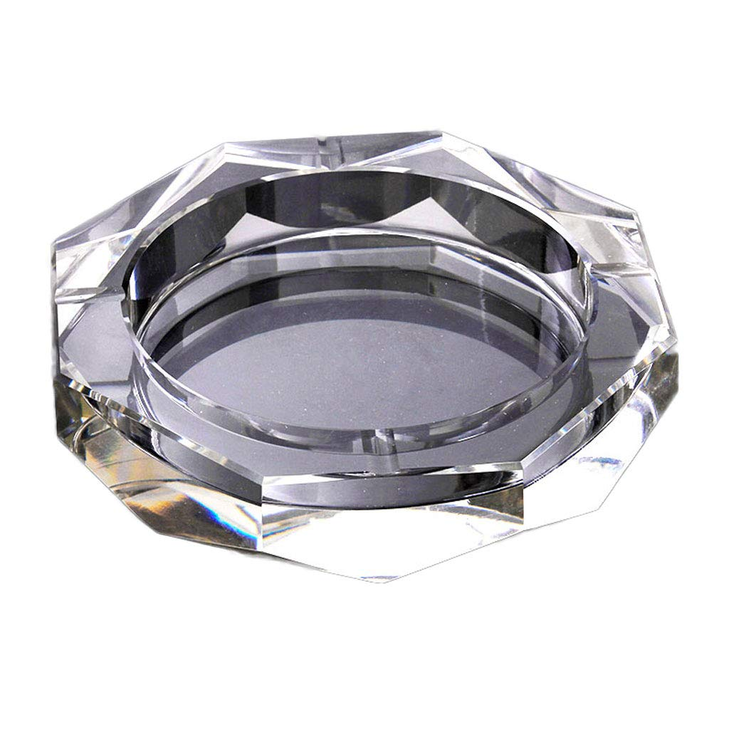ZXW Aschenbecher- Retro Kristallglas Aschenbecher kreative Persönlichkeit zu Hause praktische Aschenbecher dekorative Ornamente Geschenk (fünf Größen erhältlich) (größe   20cm)