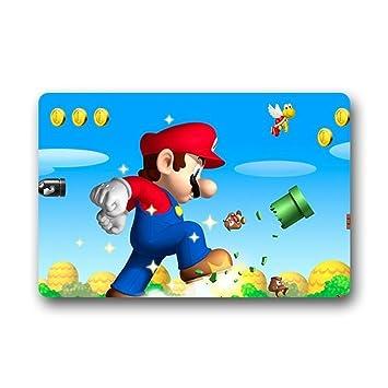 Heymat Super Mario Bros Custom Fußmatten Teppich Indoor ...