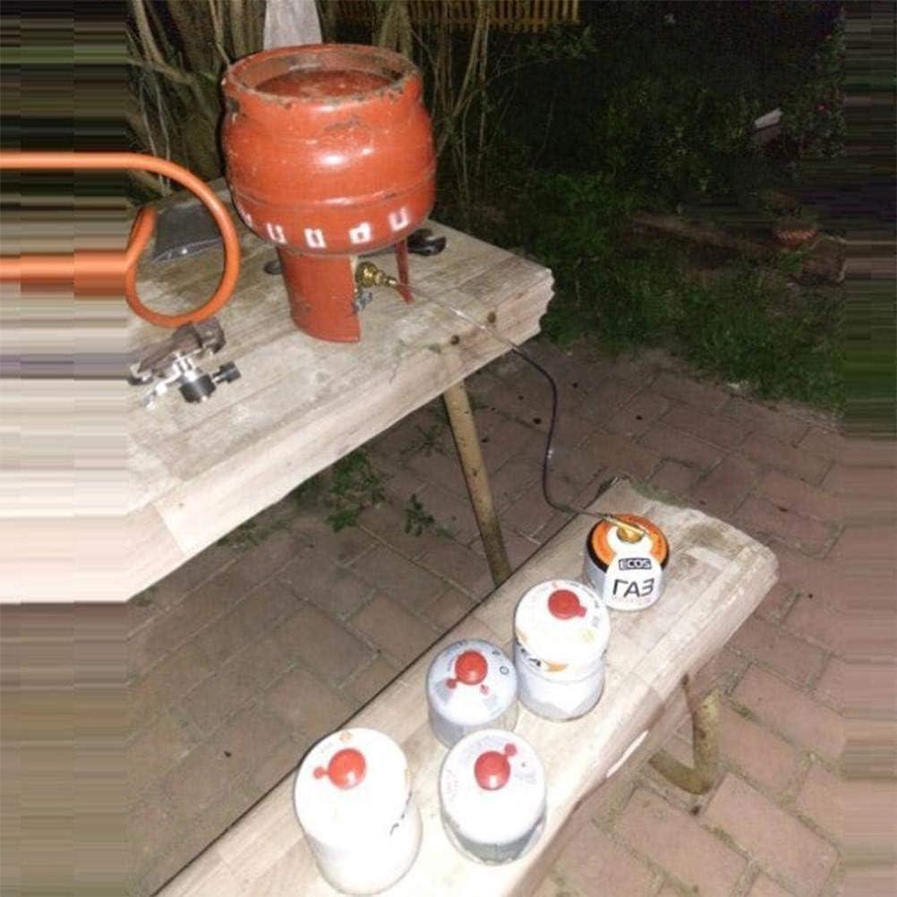 Newmere Outdoor Camping Gasherd Propan Refill Adapter Gas Flachzylinder Tank Koppler Adapter Gas Lade Zubeh/ör