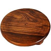 Chakla   Wooden Chakla   Wooden Rolling Plate   Wooden Roti Maker   Sheesham Wood Chakla   Handicrafts Wooden Chakla   Wood Roti Chakla - 10 INCH'