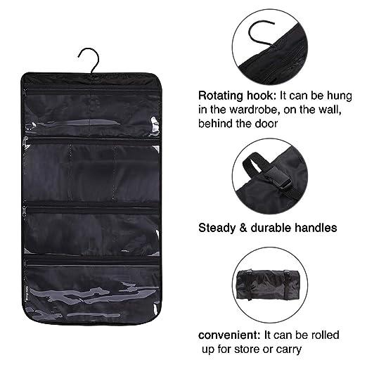 8ae0d33cc473 STORAGE MANIAC 4-Tier Hanging Travel Toiletry Bag, Cosmetic, Jewelry ...