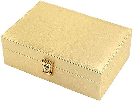 Organizador de Cajas de Joyas con 1 Estuche de Reloj Bandeja extraíble Estuche de Almacenamiento for