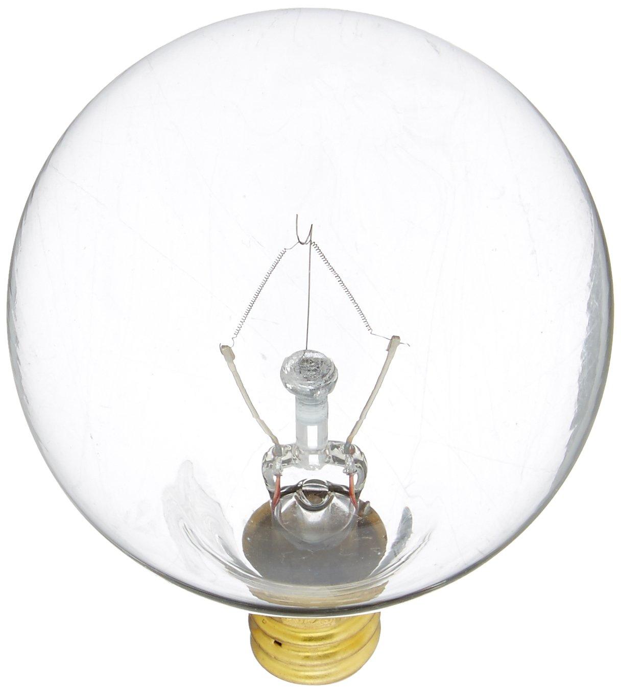 Pack of 24 Bulbrite 25G16WH2 25-Watt Incandescent G16.5 Globe Candelabra Base White
